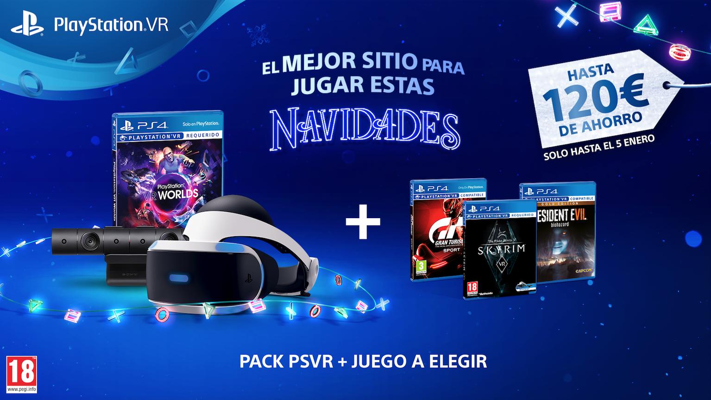 Un impresionante pack de PlayStation VR te espera estas Navidades al mejor precio