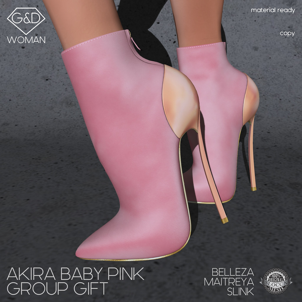 G&D Ankle Boots Akira Baby Pink Group Gift - TeleportHub.com Live!