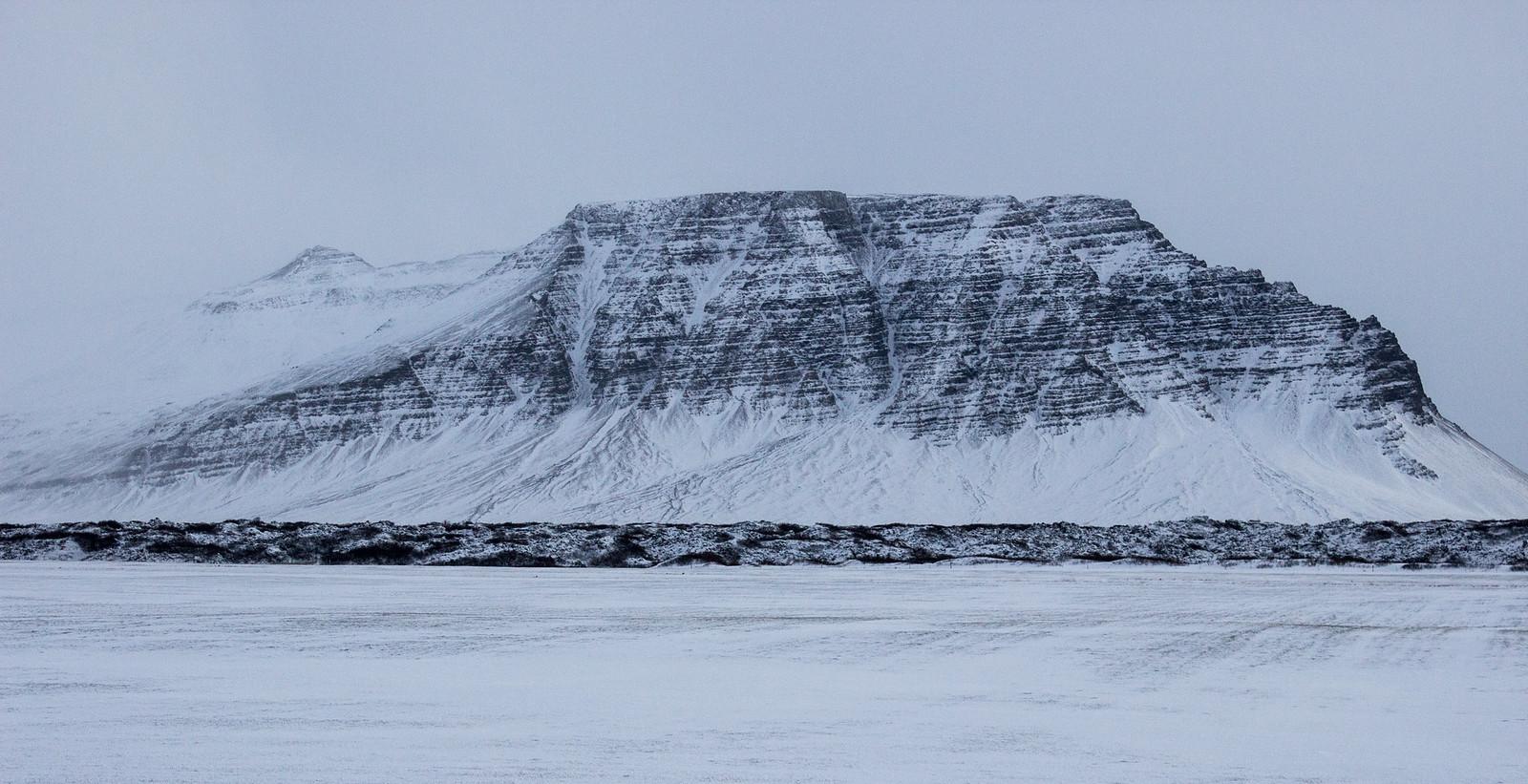 Snowy Icelandic mountains