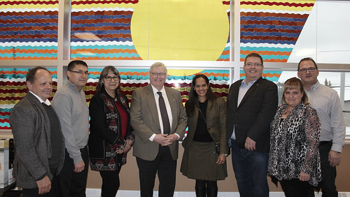 Dr. Barrette & Jean Boucher visit to Mistissini