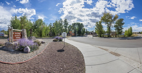 Entrance to Fort Bridger WY pano1 9-13