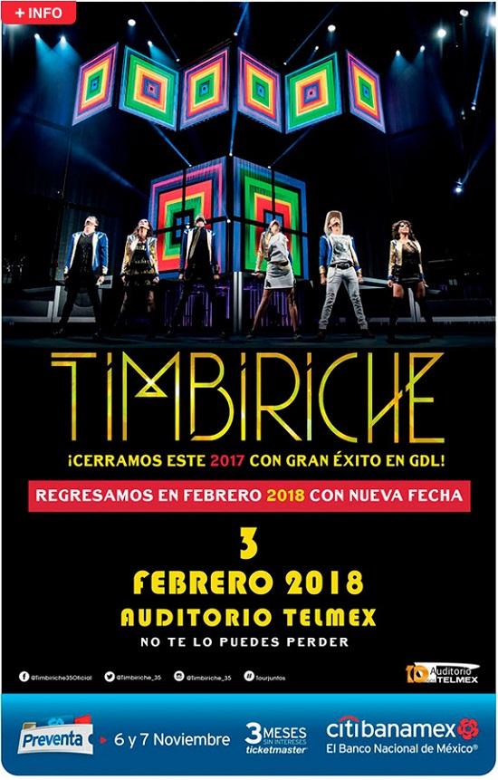 TIMBIRICHE TOUR ¡JUNTOS! – 3 de febrero. Auditorio Telmex.