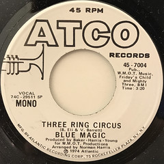 BLUE MAGIC:THREE RING CIRCUS(LABEL SIDE-B)