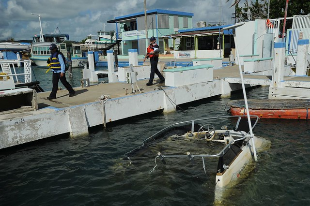 Hurricane Maria Response Team Assesses Distressed Vessels in Isleta Marina