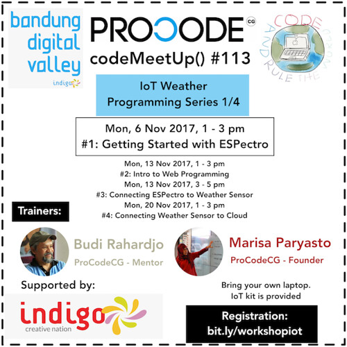 ProCodeCG - codeMeetUp() #113 - ProCodeCG codeMeetUp() #113 - IoT Weather Programming Series 1:4 - small