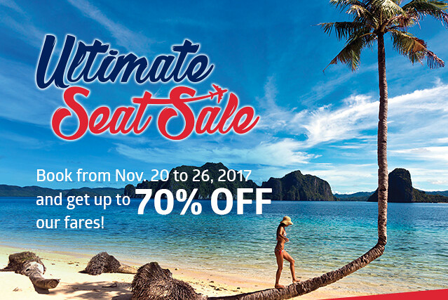 Philippine Airlines' Ultimate Seat Sale November 2017