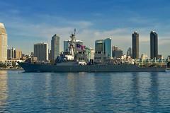 USS Higgins (DDG 76) transits San Diego Bay while departing for deployment, Nov. 20. (U.S. Navy/MC1 Trevor Welsh)