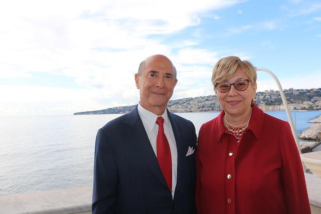 Ambassador Eisenberg in Naples