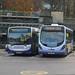 Faresaver Enviro 200 YX63 ZVS + First West of England Streetlite SM13 NAO 63069, Bath Bus Station 17.11.17