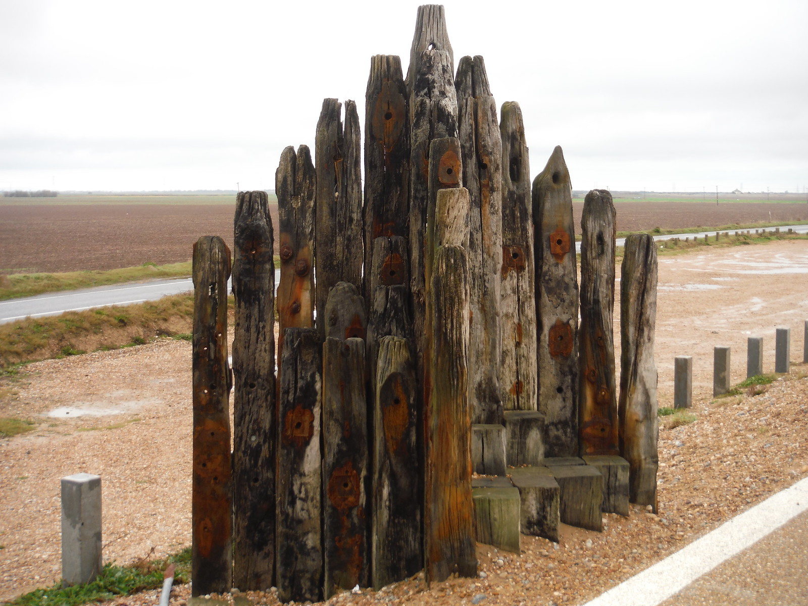 Furniture off Seawall Flood Defence, Camber SWC 154 - Rye to Dungeness and Lydd-on-Sea or Lydd or Circular