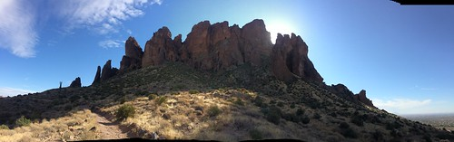 Lost Dutchman panorama of the mountain