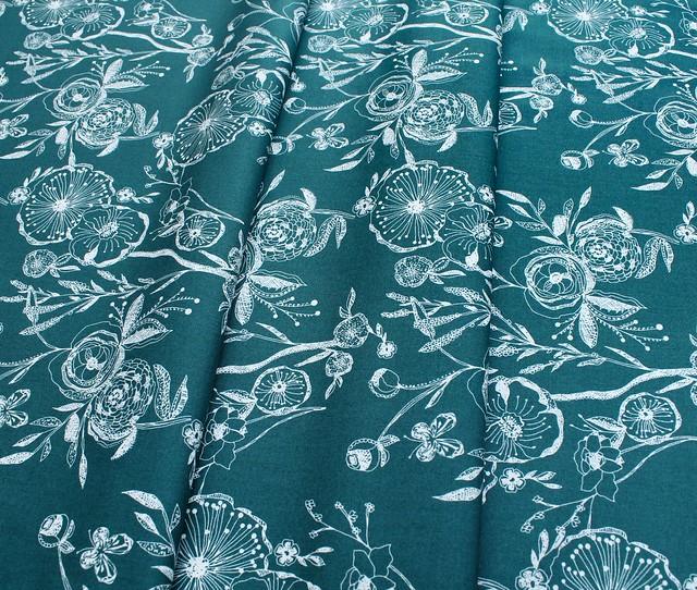 Art Gallery Fabrics Floralia Fusion Line Drawings Floralia