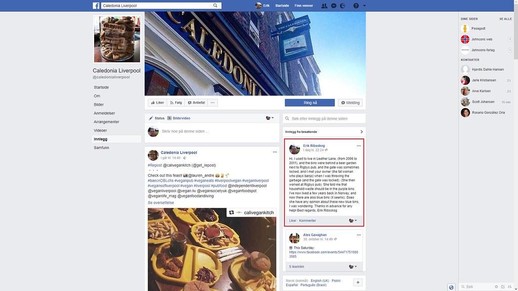 caledonia pub facebook