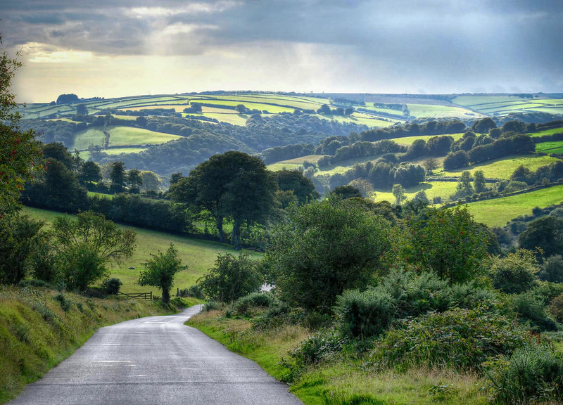 Exmoor landscape. Credit Baz Richardson, flickr