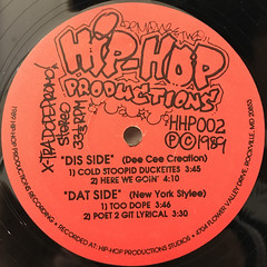 M.C. PET NYCE, COOL D.J. 'FIQ:X-TRA DOPE PROMO(LABEL SIDE-A)