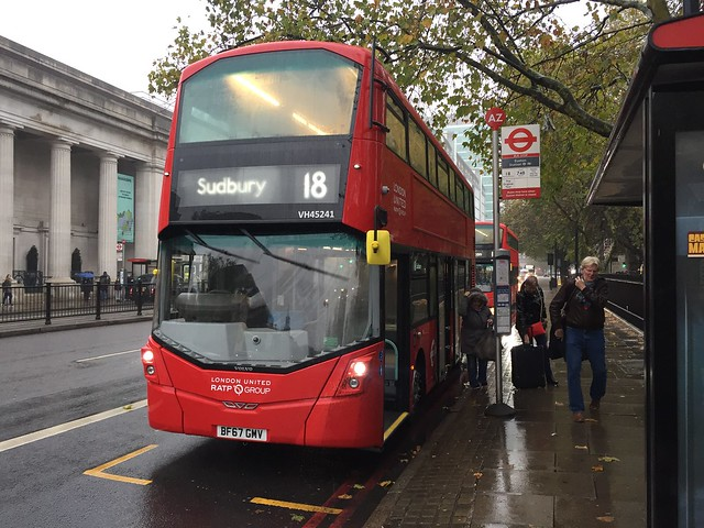 Brand new - RATP London United VH45241/BF67GMV | Route 18 | Euston