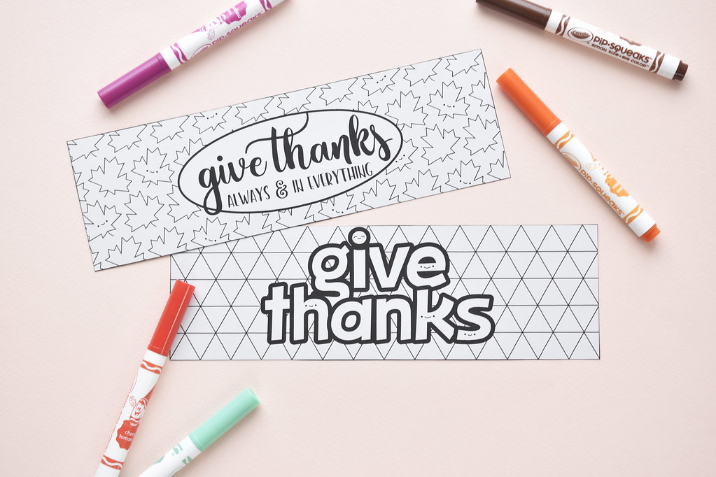 Give Thanks Printable Bookmarks
