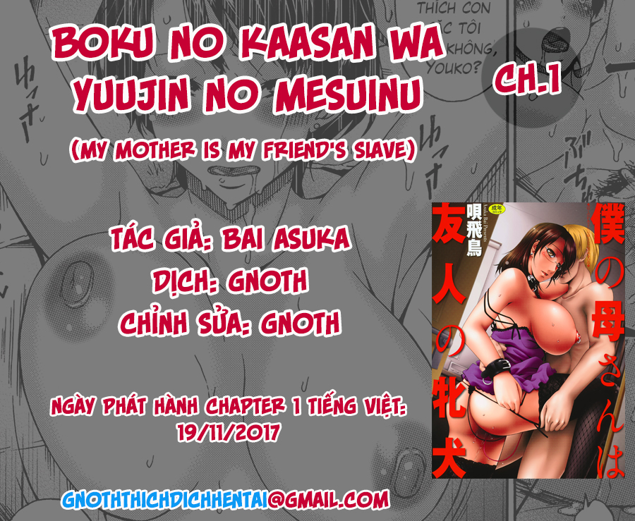 HentaiVN.net - Ảnh 1 - Boku no Kaa-san wa Yuujin no Mesuinu - My Mother is My Friends Slave - Chap 1
