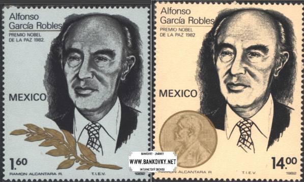 Známky Mexiko 1982 Nobelova cena Robles, nerazítkovaná séria