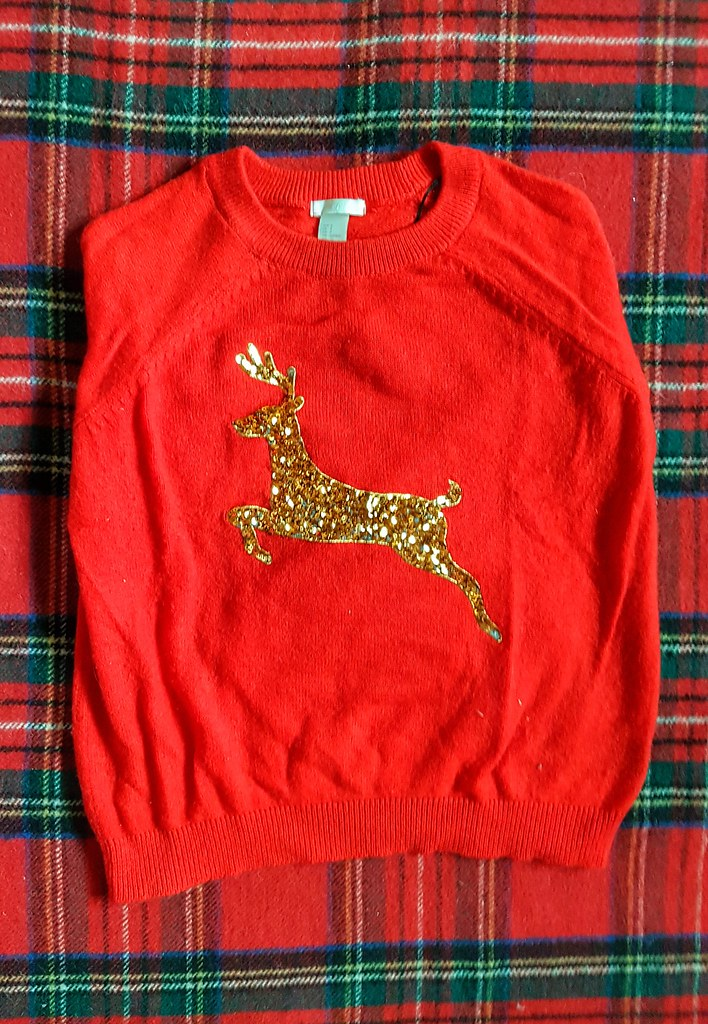 Gold Reindeer Christmas Sweater