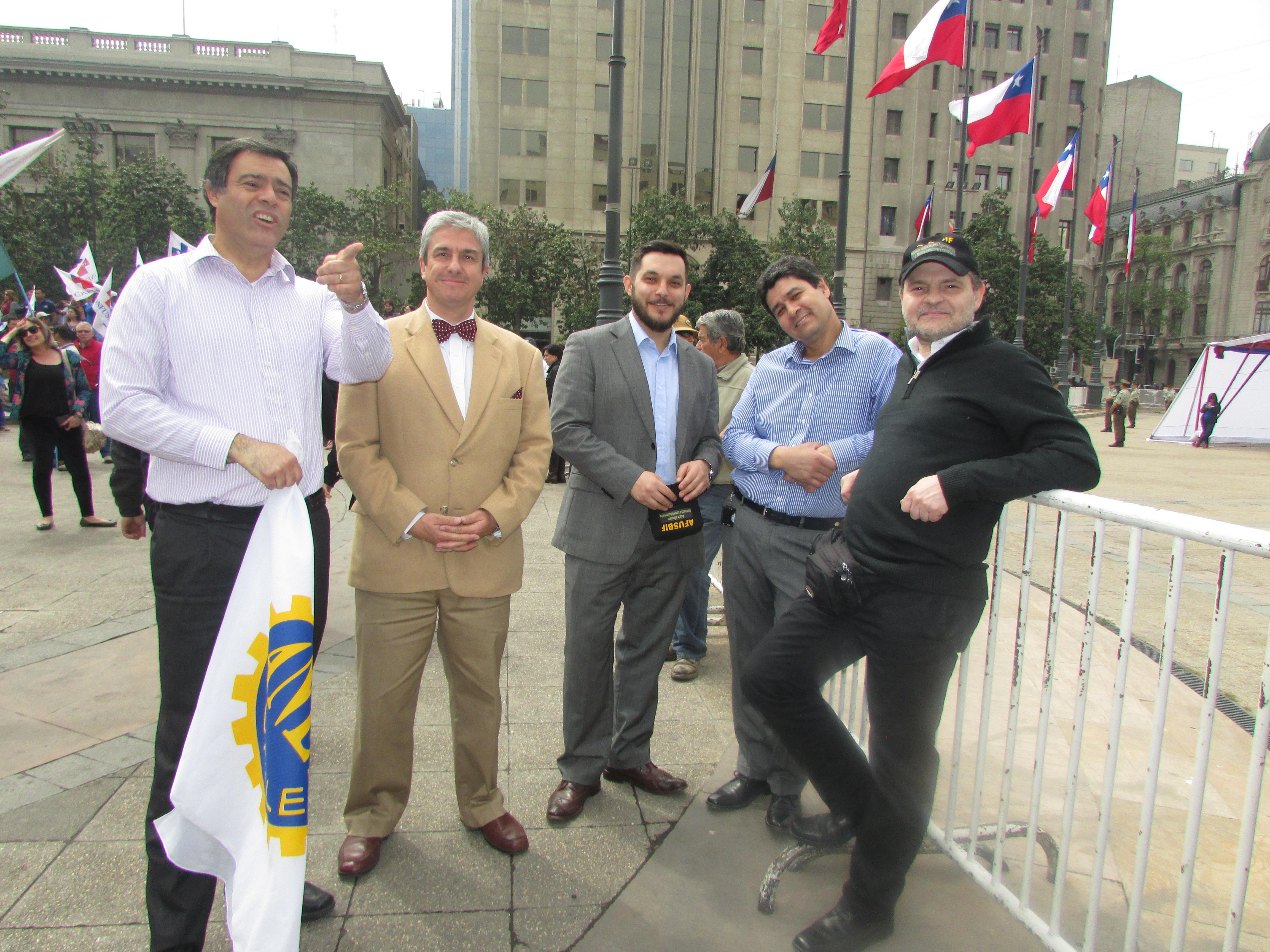 ATRADIP, FTH y ANEF en Jornada de Protesta y Movilización por reajuste digno - 22 Noviembre 2017