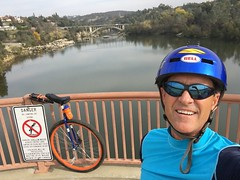 Riding my 36er makes me feel fine. I love this California weather. #folsombiketrail, #johnnycashtrail, #unicycle, #orange