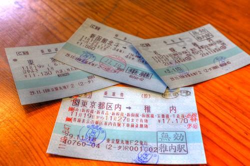 train tickets between Tokyo and Wakkanai on NOV 2017 (4)