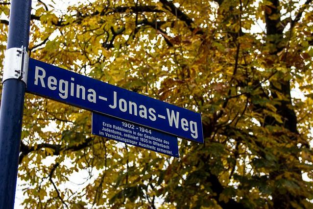 Regina-Jonas-Weg / Regina Jonas war die erste Rabbinerin in der Geschichte des Judentums
