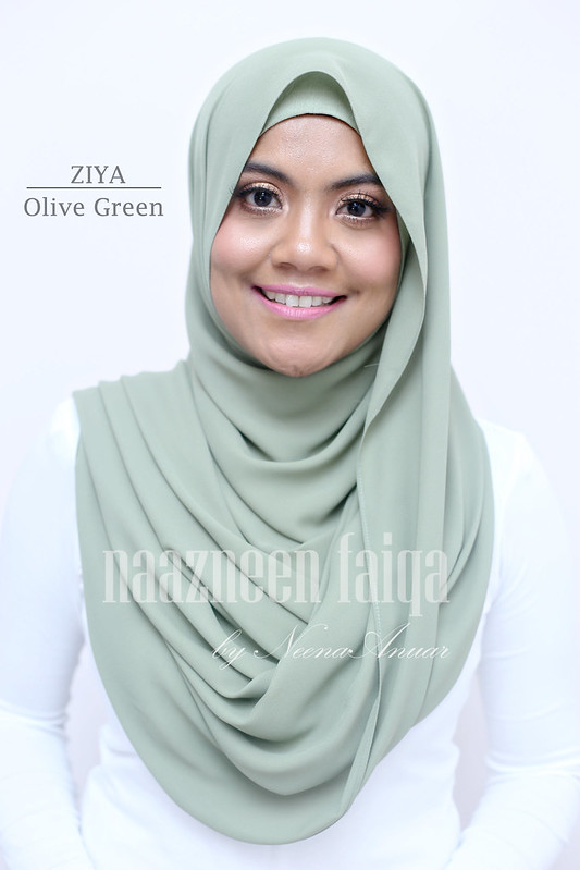 Wide Long Shawl - Ziya (Olive Green)
