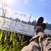 1. Frente al skyline de Toronto en la isla de Ward's Island