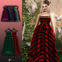 NEW! Valentina E. Candystripe Gown @ The Chapter Four!