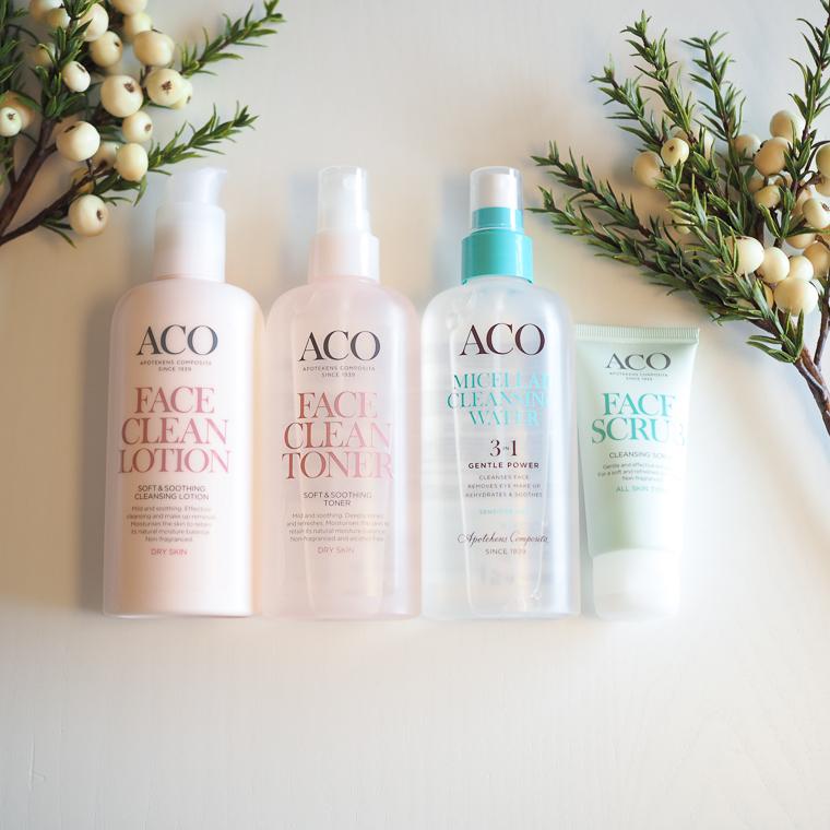 Aco Face puhdistustuotteet