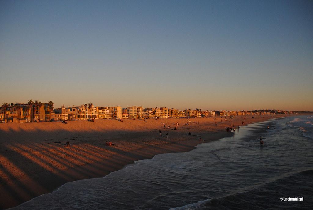 Auringonlasku, Venice Beach, Los Angeles, Kalifornia, USA