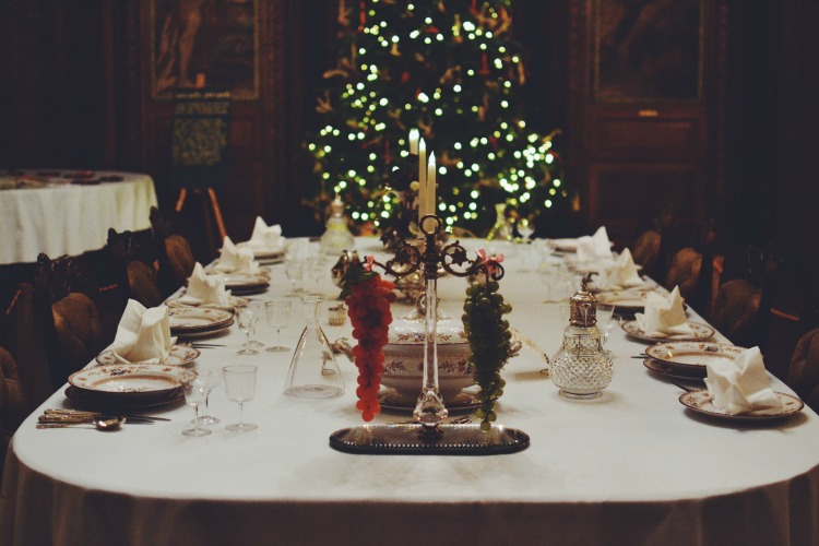 Kingston Lacy Christmas Dinner table