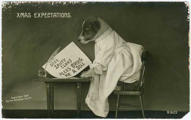 Old Christmas postcard 3 (Courtesy of the NYPL)