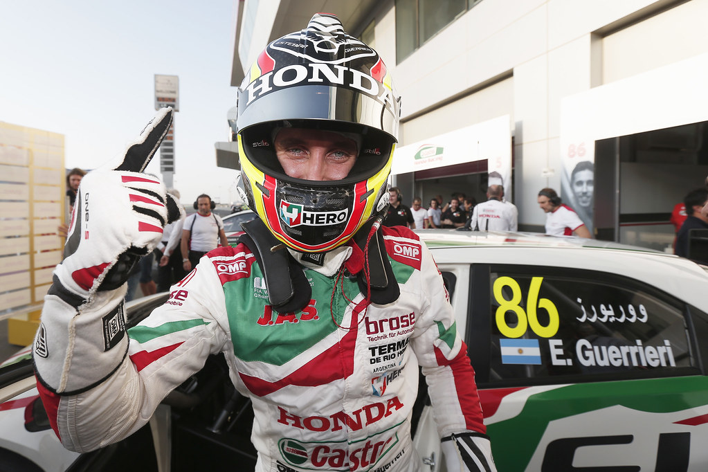 GUERRIERI Esteban, (arg), Honda Civic team Castrol Honda WTC, ambiance portrait, pole position, during the 2017 FIA WTCC World Touring Car Championship race at Losail  from November 29 to december 01, Qatar - Photo Jean Michel Le Meur / DPPI