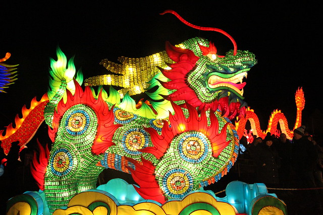 Gioant lanterns of China