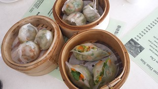 Coriander Dumplings, Chicken and Bok Choy Dumplings, Snow Pea Sprout Dumplings at Easy House