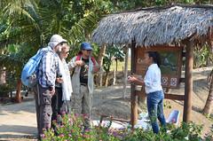 Visita de extranjeros en La Segua