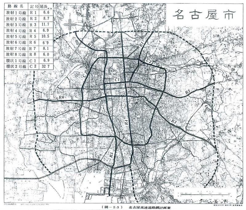 名古屋都市高速道路網計画路線図