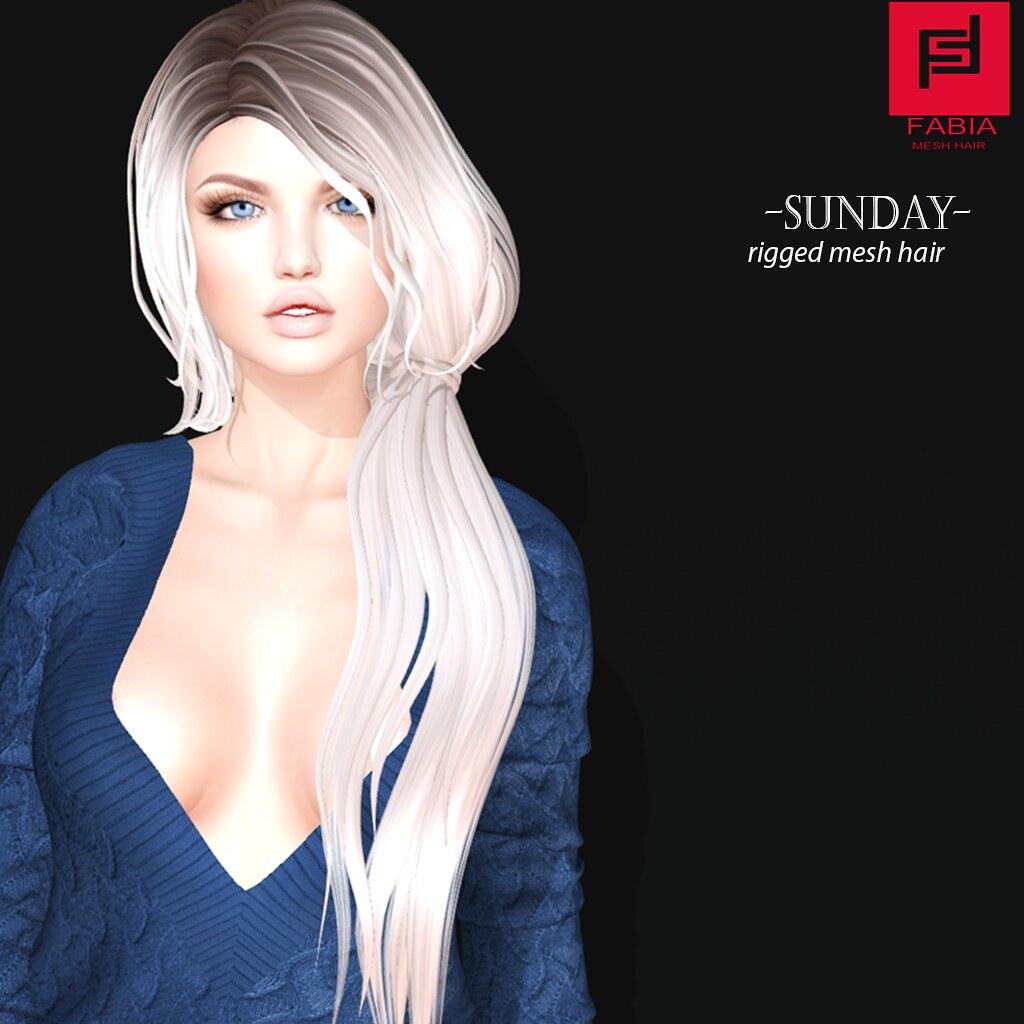 -FABIA- Mesh Hair   <Sunday> - TeleportHub.com Live!