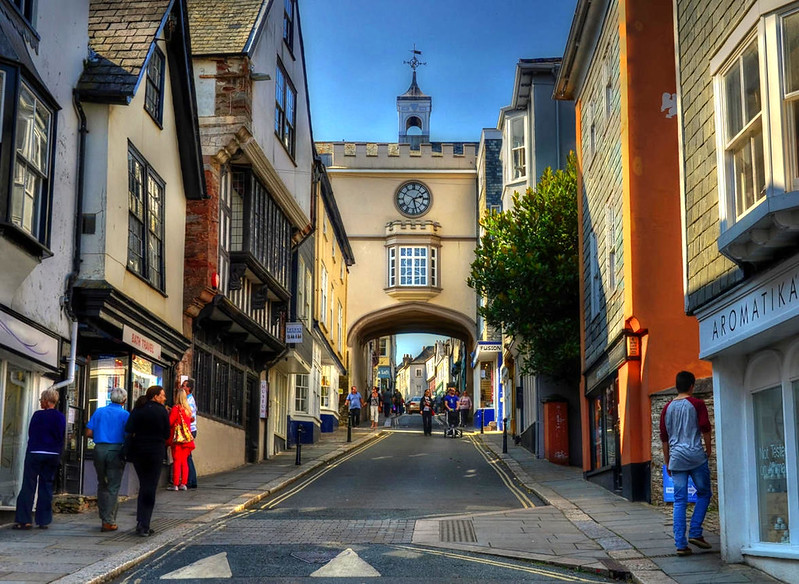 Fore Street, Totnes, Devon. Credit Baz Richardson