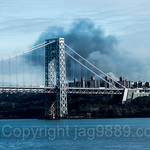 Heavy Smoke from a Four Alarm Fire on Nagle Avenue, Inwood, New York City