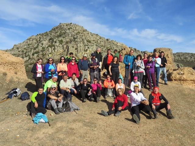 Más de 40 senderistas participaron en la primera ruta organizada en la provincia de Badajoz