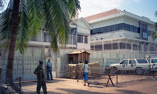 Electoral Headquarters and the Computer Center in Phnom Penh shortly before the 1993 UNTAC-administered election.