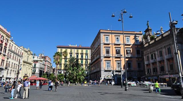 Piazza Dante, Naples, Campanie, Italie.