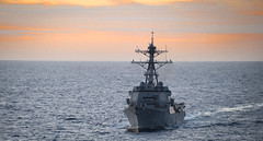 In this file photo, USS Wayne E. Meyer (DDG 108) operates in the Pacific earlier this month. (U.S. Navy/MC3 Jack Cannaday)