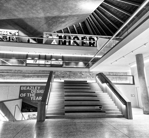 Black and White stairs of the Design Museum