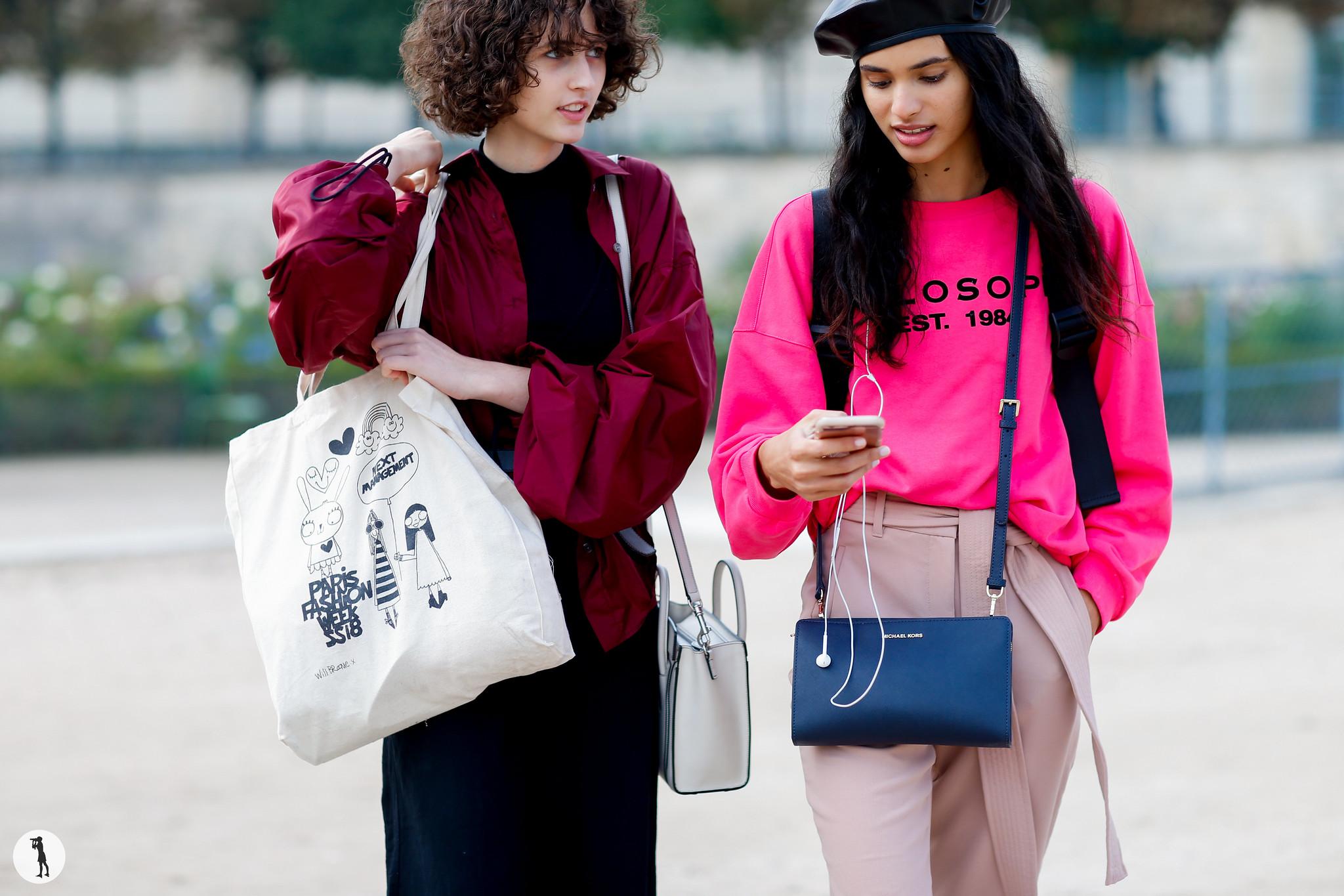 Models Leila Zandonai and Aira Ferreira - Paris Fashion Week SS18 (1)