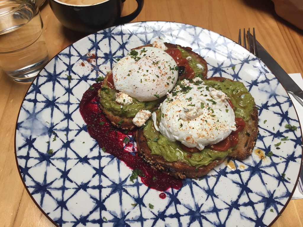 Avocado toast at Urban Daybreak